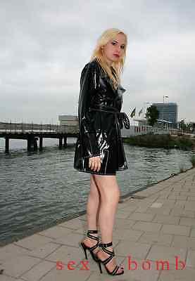 SEXY sandali domina nero lucido ZIP INTRECCIATE tacco spillo 15 da 35 a 44 GLAM! 9 • EUR 85,00