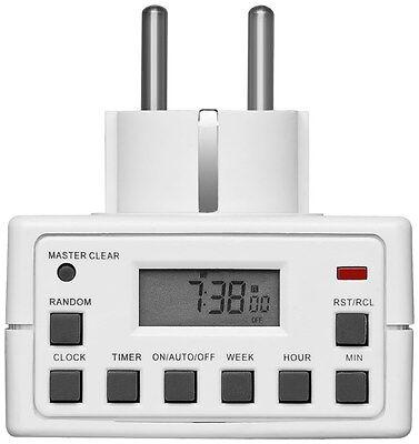 2x Digitale Zeitschaltuhr Steckdose Wochenzeitschaltuhr 10 Progr. 230V 16A 3600W 2