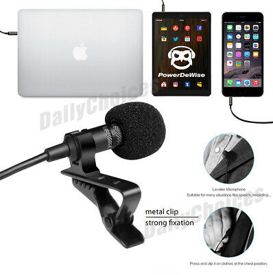 Lavalier Microphone 3.5mm Lapel Clip-on Mic for iPhone & Android Smartphones 4