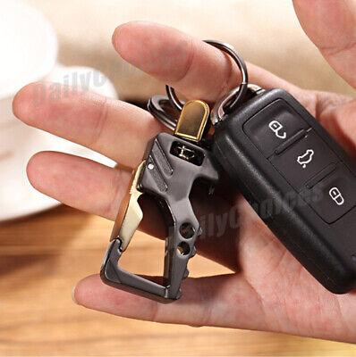 Stylish Metal Car Key Rings Alloy Chain Heavy Duty Gift Keyring Keychain Holder 4