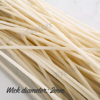 100pcs Candle Wicks Low Smoke Pre Waxed Wick with Tabs Sustainers Cotton Core AU 4