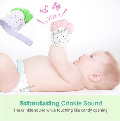 Silicone Baby Teether Teething Mitt Mitten Glove Safe BPA Free Chew Dummy Toy AU 4