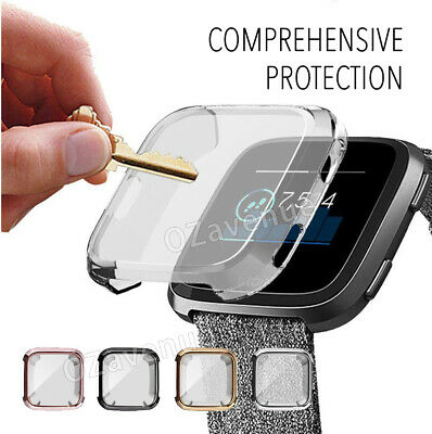 For Fitbit Versa Silicone TPU Shell Case Screen Protector Frame Cover hot new BO 4