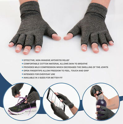 Arthritis Gloves Compression Joint Finger Pain Relief Hand Wrist Support Brace 4