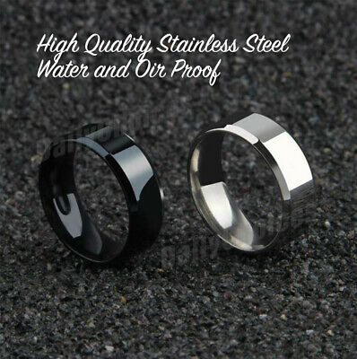 Mens Titanium Stainless Steel Ring Promise Engagement Wedding Ring Band Size8-11 4