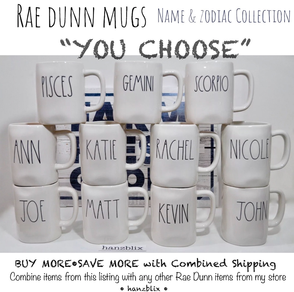 """Rae Dunn """"You Choose"""" Mugs *Save On Shipping* Large Letter New Htf/Rare '18-'20 7"""