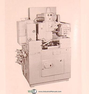 Fellows No. 4AGS, Gear Shaper, Operations Manual Year (1964) 2