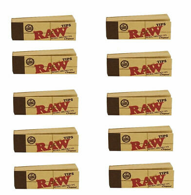 RAW Rolling Paper Smoking Chlorine Free Genuine Roach Roaches Book Filter Tips 6