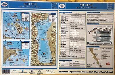 BAJA DIRECTIONS FISHING Charts Map of Baja Mexico Sur, Mulege ...
