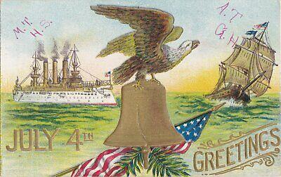 LIBERTY Bell Silver Coin Eagle Anchor Snake 3D Antique Americana Pennsylvania US 11