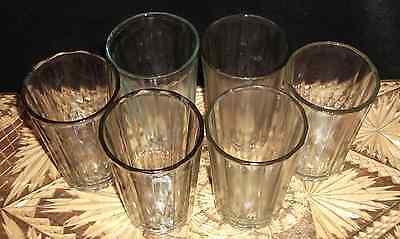 SOVIET USSR FACETED NEW TEA GLASS 6 pc. GRANENNIY STAKAN & VODKA 200 grams 2
