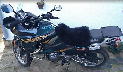 NEW SHEEPSKIN non-slip Medium+Small 2pce SEAT COVER motorcycle BLACK motorbike