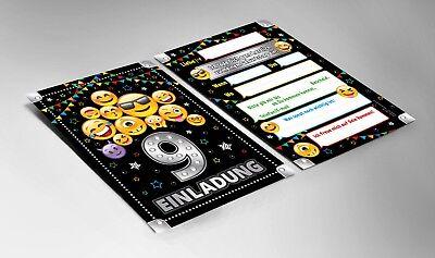 Einladungskarten Einladungen 9. Geburtstag neunte Kindergeburtstag Mädchen Junge 3