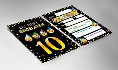 Einladungskarten Einladungen 10 Geburtstag zehnte Kindergeburtstag Mädchen Junge 3