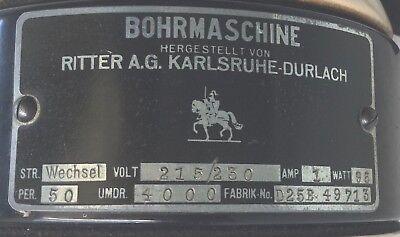 Ritter Zahn Bohrmaschine mit Doriotgestänge  MUSEUM Zahnbohrer ANTIK Zahnarzt