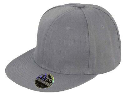 Snapback Baseball Cap Plain Classic Retro Hip Hop Adjustable Flat Peak Hat 6