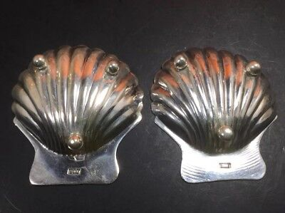 2 Mexico 925 Sterling Silver Seashell Scallop Clam Shell Footed Ashtray Dish A 3