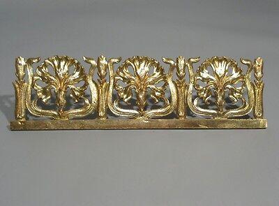Antique French Art Nouveau Gilded Bronze Furniture Decoration, Carnations 6