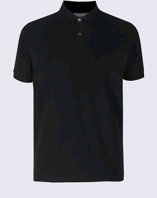 Mens Polo Shirt EX M&S Casual Polo Shirt Regular Fit Size S - 3XL RRP £15 6