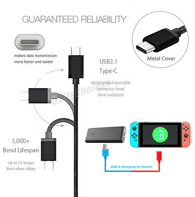 Nintendo Switch USB Charger Charging Power Cable Cord for Nintendo Switch 2M 3M 4