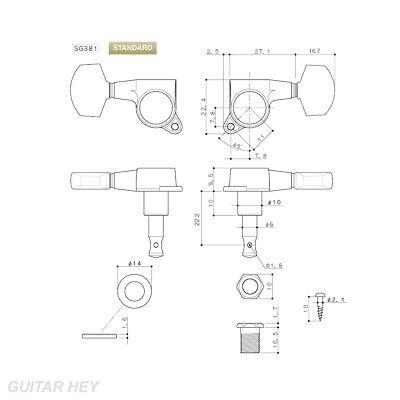 NEW Gotoh SG381 Sealed Mini Tuners 3x3 Keys Large Button Chrome TK-0963-010