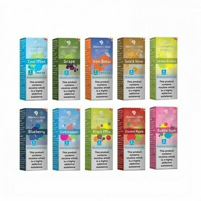 Diamond Mist E Liquid Vape Juice  All Strengths/ Flavours + Nic Salt, 10ml 50/50 4