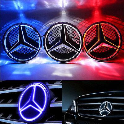 Illuminé LED lumière Emblème Logo Grille LED Badge Avant pour Mercedes Benz NEUF 10