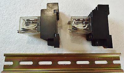 2 Omron Ly4N 24 Vdc, Contact W/Rj(Sa) Max. 10A240V 1991Y4. With Weidmuller Metal 5