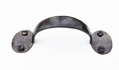 iron rustic antique hardware drawer pull cabinet Bean pull handle vintage 2
