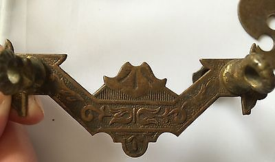 Antique Salvage Decorative Lot Of Solid Brass Cabinet Drawer Handle Cover Plates 10