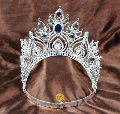 Fantastic Pageant Tiara Diadem Large Wedding Crown Crystal Bridal Prom Party New 4