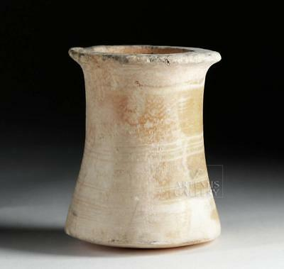 Egyptian Late Dynastic Banded Alabaster Vase Lot 10A