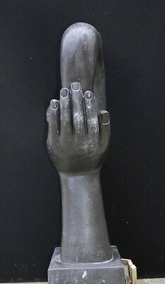 Italian Marble Modernist Art Sculpture Hand Figurine Statue Abstract 11