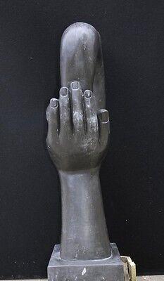 Italian Marble Modernist Art Sculpture Hand Figurine Statue Abstract 11