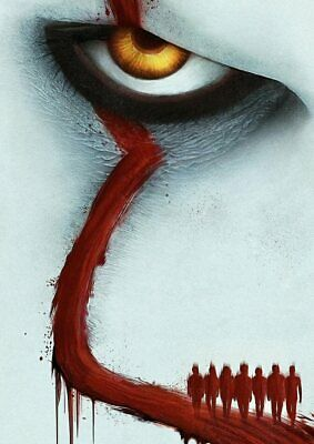 Stephen King: IT Chapter 2: Two Pennywise  A5 A4 A3 Textless Movie DVD Posters 5
