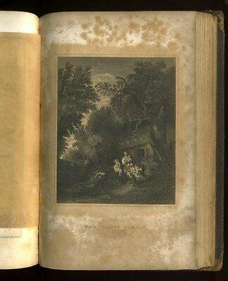 Antique Book 1851 KEEPSAKE of FRIENDSHIP 4 Oliver Pelton Engravings CHRISTMAS hb 9