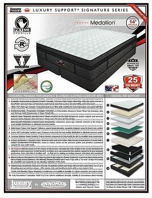 Dual Chamber Select Luxury Medallion Comfort  Air Bed Mattress Eastern King 6