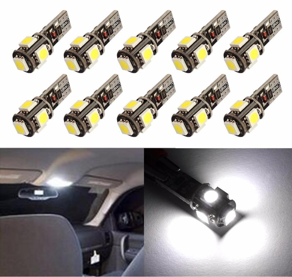 4x Canbus LED Error Free T10 6000k HID White W5W Bulbs Side Parking Lights 12V 2