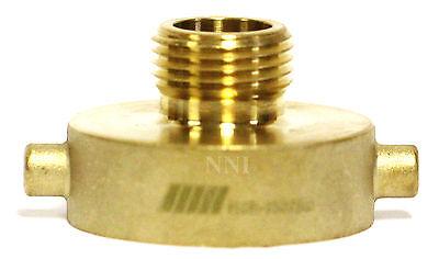 "NNI FIRE HYDRANT BRASS ADAPTER 1-1//2/"" Female NST NH x 1/"" NPSH Male HSR-1510N"