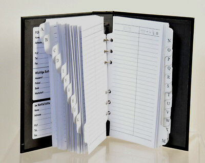 Herlitz Adressbuch A5 Telefonbuch A-Z Telefonregisterheft Register Schwarz NEU