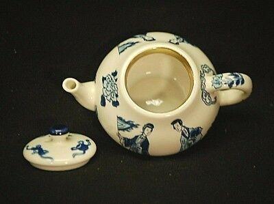 Kangxi Miniature Tea Pot Victoria & Albert Museum 1985 Franklin Mint Porcelain 3