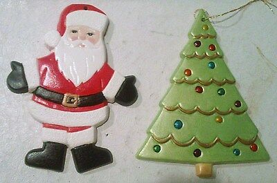 1 of 5 l07 of 7 vintage handmade ceramic christmas ornaments - Ceramic Christmas Ornaments