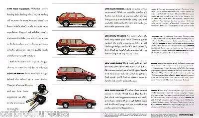 1996 ISUZU TROOPER / RODEO Catalog / Pamphlet : S, LS,