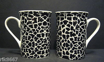 A Set Of Six 6 Data Animal Prints Panama Fine Bone China Mugs Cups To Clear 3