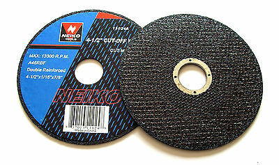 """20 NEIKO 4/"""" CUT-OFF WHEELS ANGLE GRINDER 3//8/"""" ARBOR 11053A GRINDING CUTTING DISC"""