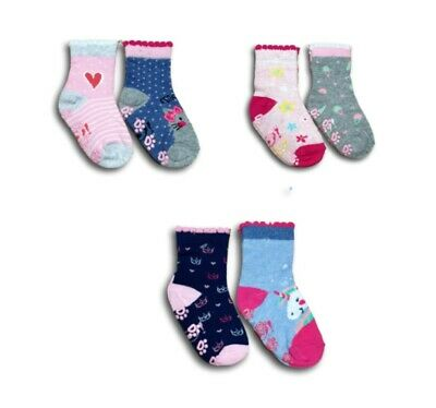 Baby Toddler Girl ABS Anti Non Slip Cotton Socks 2 Pairs Size 3 Months to 3Years 2