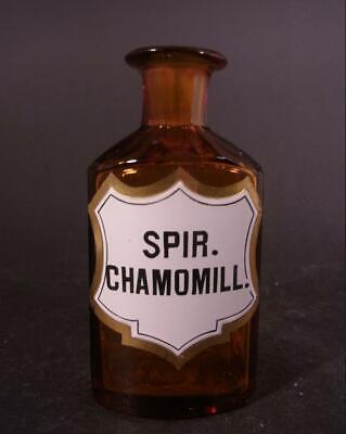 Apothekenflasche SPIR. CHAMOMILL., um 1900. 4