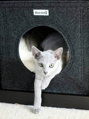 Katzenbett Katzenhöhle aus Filz dunkelgrau u. a. passend für Ikea Expedit Kallax 5