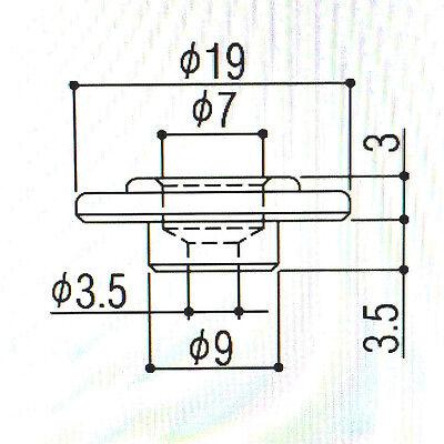 Chrome Round String Guide//Tree for Fender P//Jazz Bass® Guitar BSG-ER-C 1