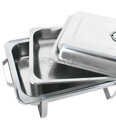 4 Pack Catering Stainless Steel Chafer Chafing Dish Sets 8 Qt Party Pack 6